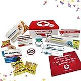 Geburtstagsgeschenk | Erste Hilfe Set Geschenk-Box, witziger Sanikasten | 9-teilig | Scherzartikel zum Geburtstag (Deutsch)