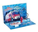 3D Pop - UP Karte Geburtstag, Feuerwehr, Geburtstagskarte 3D, POP - UP Karten, POP UP Karten...