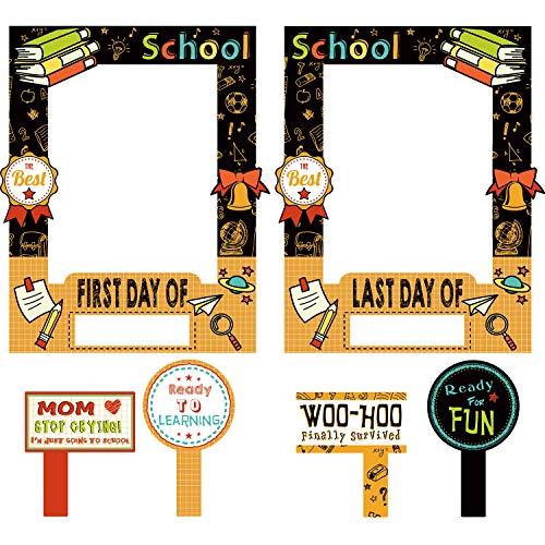 Bilderrahmen mit Aufschrift Welcome Photo Booth für Partys, Schule, Foto, Requisiten, 1. Schultag, doppelseitig Bedruckt