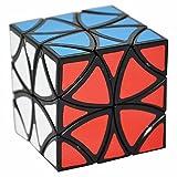 Papillon Puzzle Cube Coolzon® Spécial Flower Cubo Jouet de Vitesse Version Autocollant de PVC 57mm, Noir