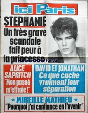 AFFICHE DE PRESSE - STEPHANIE DE MONACO - ALICE SAPRITCH - DAVID ET JONATHAN - MIREILLE MATHIEU.