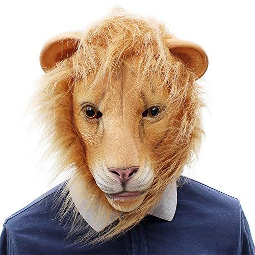 AIJIE Halloween Maske, Halloween Cosplay Bar Party lustige Tier Löwe Latex Maske für Halloween, Bühnenauftritte, - Löwe Kostüm Streich