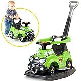 Schaukel-Rutscher 5in1 mit Schiebestange, elektrische Hupe, aufklappbarer Sitz - Rutsch Auto Baby Schubstange Fahrzeug Spielzeug Lauflernwagen