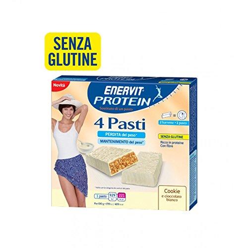 Enervit Protein 4 Pasti Gusto Cookie Integratore Alimentare 8x27g