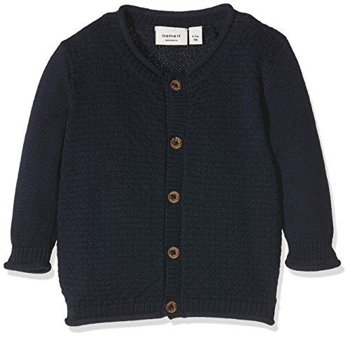 NAME IT Baby-Jungen Strickjacke Nitsebastian LS Knit Card Mznb Ger, Blau (Dress Blues), 68