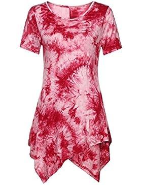 JYC Suelta Manga Corta,Sudadera Para Mujer,Camiseta Verano 2018,Blusas De Mujer Elegantes De Fiesta, Casual Camiseta...