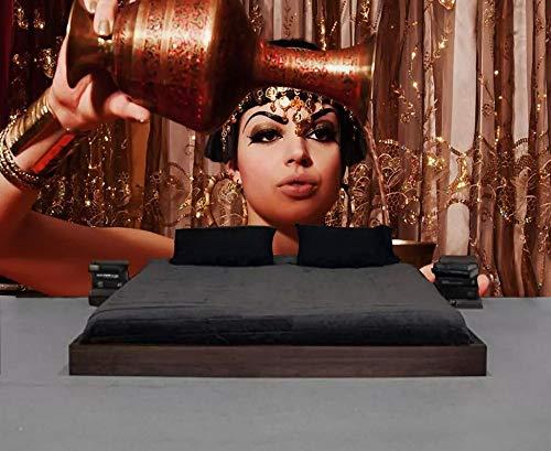 ZYLBDNB Wandbild Kunst 3D, benutzerdefinierte Tapete 3D Wandbild Mode Retro Industrie Stil Ägyptische Schönheit Gießen Wein Lounge Wohnzimmer Wand,400X300CM