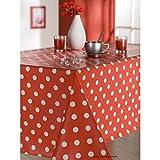 Tischdecke aus Wachstuch 140x 300cm Martin rot