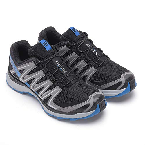 Salomon XA Lite, Scarpe da Trail Running Uomo, Nero/Blu (Black/Quiet Shade/Imperial Blue), 43 1/3 EU