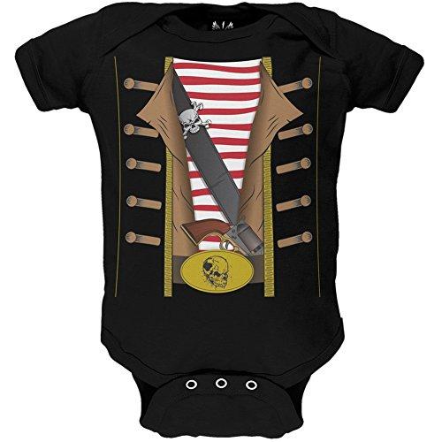 Old Glory Pirat Kostüm Infant Body, Schwarz, 87330-06 (Musik Piraten Kostüm)