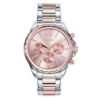Viceroy 40930-73 – Reloj Cuarzo para Mujer, Correa de acero inoxidable, color Oro Rosa