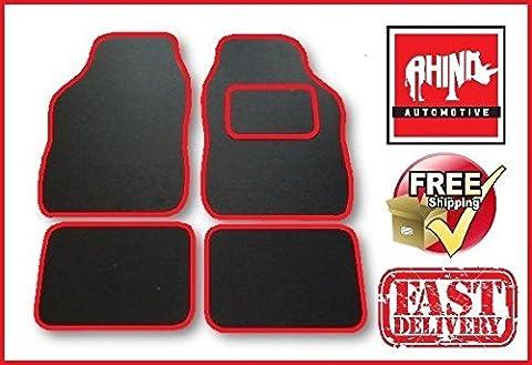 Mini John Cooper Works 08-on Universal rot Radkappe Teppich Auto Matte Set