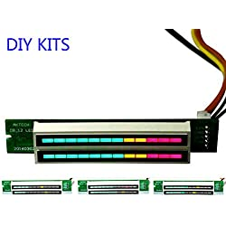 AIYIMA 1 mini amplificateur double indicateur 12 niveaux VU-mètre stéréo lumière à vitesse réglable, 7 V-12 V avec mode AGC, kit DIY