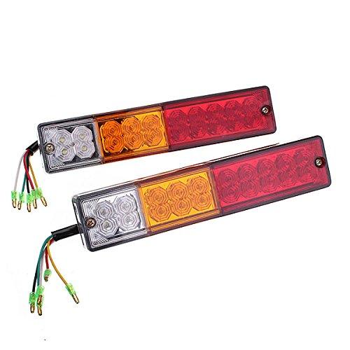 Led-bremslicht Anhänger (Audew 2x LED Rückleuchten Heckleuchte Anhänger LKW Rückfahrlicht Bremslicht 10-30V)