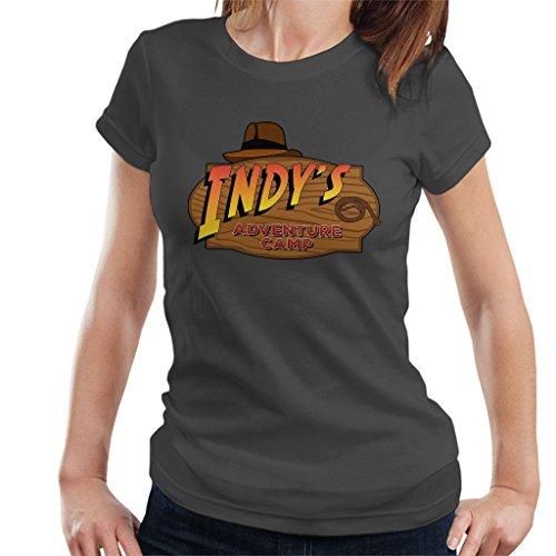 Indys Adventure Camp Indiana Jones Women's T-Shirt (Jones Indiana Shirt)