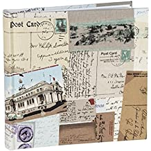 vo1664si viajes lienzo álbum para fotografías 1604x 6(11x 15cm) álbum de fotos con páginas de papel con compartimentos de fotos de dos secciones en cada página. Polipropileno fundas protectoras.