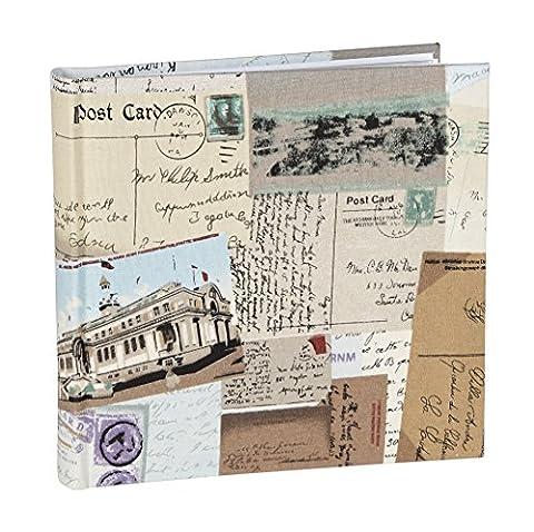 vo1664si Voyages Toile Album pour 160photos 4x 6(11x 15cm) Album photo avec pages en papier avec deux sections Photo Pochette sur chaque page. Couvertures de protection en polypropylène.