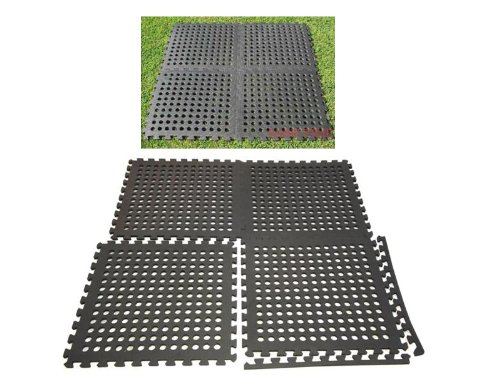 NO.1 GARDEN INTERLOCKING EVA FOAM DRAINAGE GARDEN SWIMMING POOL FLOOR MATS GYM GARAGE 6 PIECE 60 X 60 CM. LARGE BEST PRICE REVIEW