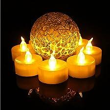 HAPPY ELEMENTS 24 Paquete LED velas sin llama con la boda con pilas Velas Decoraciones para las fiestas de Eventos Tealight Velas