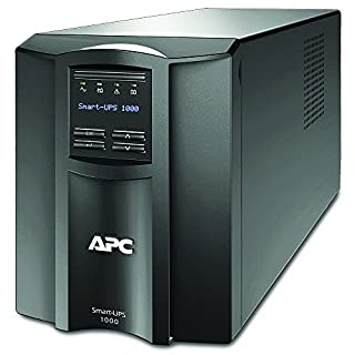 APC Smart-UPS SMT - Uninterruptible Power Supply 1000VA - SMT1000I - Line Interactive, AVR, LCD Panel, 8 Outlets IEC-C13, Shutdown Software