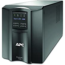 APC Smart-UPS Gruppo di continuità UPS 1000VA Modello Tower SMT1000I Line Interactive, AVR, 8 uscite IEC-C13, Software di Schutdown Powerchute