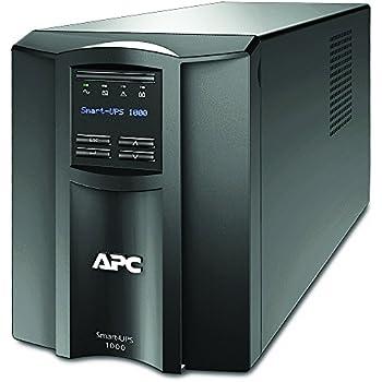APC Smart-UPS SMT - Onduleur 1000 VA - SMT1000I - Line-interactive, Régulateur automatique de tension (AVR), Écran LCD, 8 Prises IEC-C13, Logiciel d'arrêt