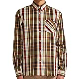 Fred Perry Bold Check Shirt in Port Large