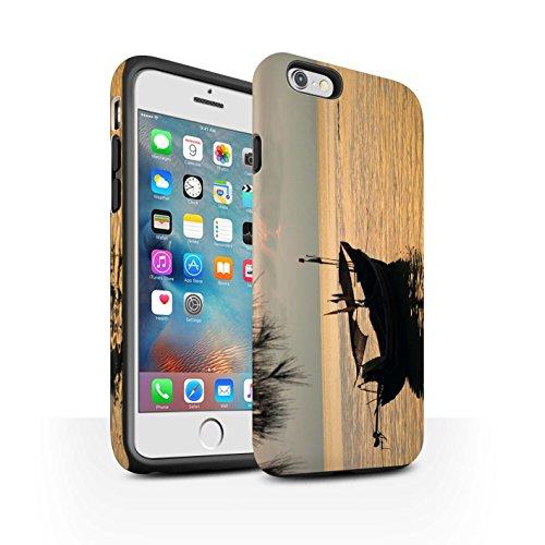 STUFF4 Matte Harten Stoßfest Hülle / Case für Apple iPhone 6+/Plus 5.5 / Feuerwerk Muster / Thailand Landschaft Kollektion Fischerboot