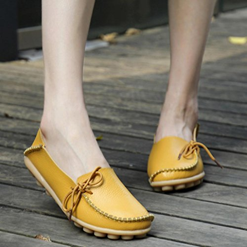 Women Loafers Shoes, SOMESUN Pattini di cuoio delle nuove donne dei  mocassini Soft Leisure pattini ...