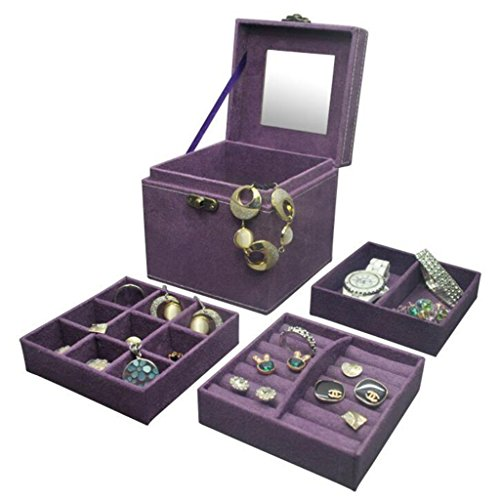 hoyofo-three-layers-jewellery-box-square-suede-fabric-gift-box-with-mirrorpurple