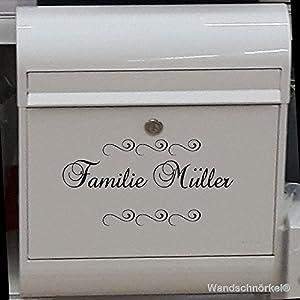 Briefkasten AUFKLEBER Namenaufkleber Namenschild universelle Einsatzmöglichkeiten.Haustür Briefkasten Wandtattoo Möbel…