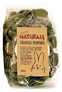 (Boredom Breaker) Naturals Fenugreek Crunchies for Rabbits, Guinea Pigs and Small Animals (200g) [18945]