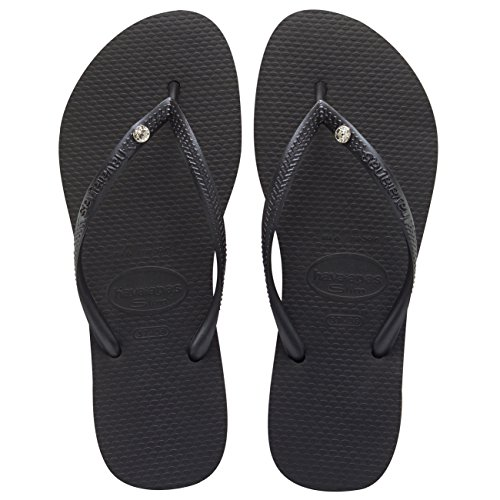Havaianas Slim Crystal Glamour Sw, sandales Femme Noir - noir
