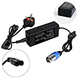 Kuyal 24V 2A Mobility Scooter Battery Charger Power Supply,UK Shoprider Mobility Scooters Adapter,Wheelchair Battery Cord Plug With 3-Pin Male XLR Connector(24V 2A)