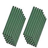 MCTECH 50 Stück Universal Befestigungsclips Klemmschienen für PVC Sichtschutzstreifen Grün