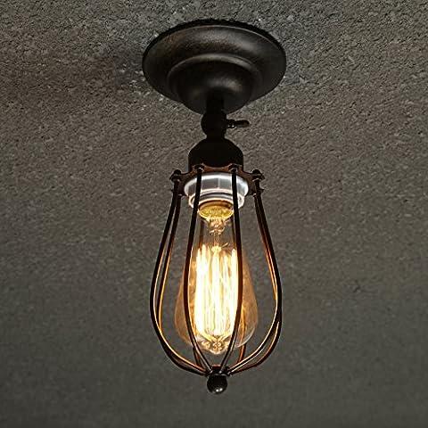 LINA-Retro Vintage colgante tonos claros contemporáneo colgante techo techo Metal luz iluminación lámpara Luces de techo de hierro forjado