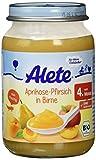 Alete Aprikose-Pfirsich in Birne, 6er Pack (6 x 190 g)