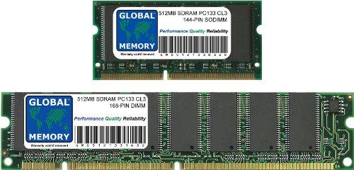 133mhz Sdram 144-pin (GLOBAL MEMORY Arbeitsspeicher-Kit für IMac G4 Flat Panel 700 MHz/800 MHz - 1 GB (2x 512MB) PC133,133MHz, 144 PinSDRAM SODIMM & 168 Pin SDRAM DIMM)
