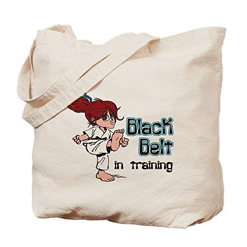 CafePress–Schwarz Gürtel in Training–Leinwand Natur Tasche, Reinigungstuch Einkaufstasche Tote S khaki (Canvas-gürtel Schleife Tasche)