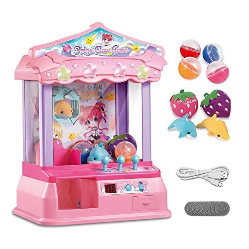 XUMING Traditionelle Arcade Klaue Maschine USB Doll Grab Maschine Candy Collector Desktop Neuheit Spielzeug Familie Interaktive Kinder Action und Reaktionsspiel,Pink - Tabletop-automaten