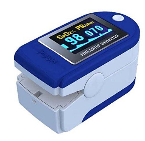 SATURIMETRO DA DITO Pulsossimetro OSSIMETRO SPO2 dito e Cardiofrequenzimetro, display a colori ed orientabile