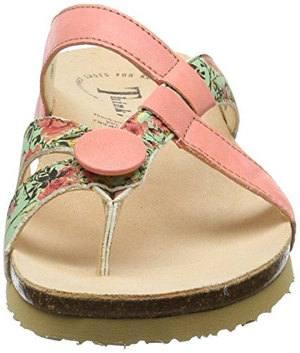 Think! Julia_282335, Tongs Femme Multicolore (Coral/kombi 74)