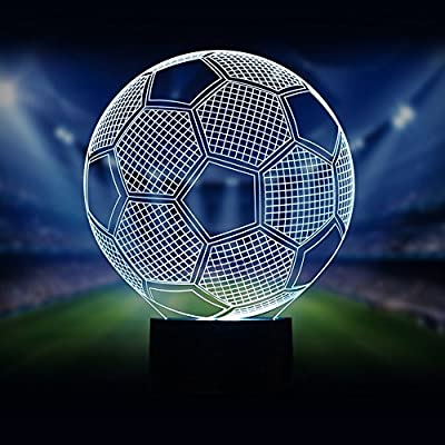 Football 3D Night Light With 7 Colour choice , 7 Colors Flashing & Touch Switch USB Powered