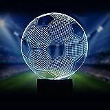 Fussball 3D Optische Illusions-Lampen LED Nachtlichter, FZAI Touch Tischlampe Haus Dekoration 7 Farben Einzigartige Lichteffekte zum Kinder Geschenk