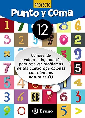 Punto y Coma Matemáticas 12 Comprendo y valoro la información para resolver problemas de las cuatro operaciones con números naturales (1) (Castellano ... Complementario - Cuadernos De Matemáticas)