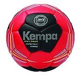 Kempa Spectrum Synergy Primo Handball, rot/Schwarz/limonengelb, 1