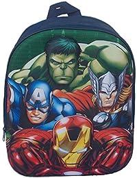 Mochila Mochila Escolar Guardería 3d Marvel Avengers- silueta de relieve–Carpeta Mochila Iron Man, Capitán América