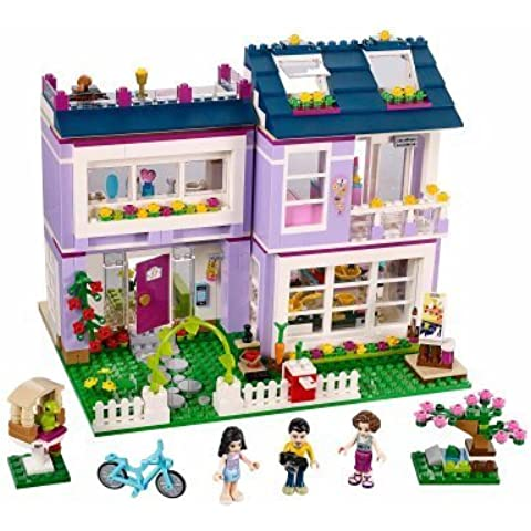 LEGO Friends Emma's House,includes 3 mini-doll figures: Emma, mom Charlotte and dad Luis, plus her pet bird by