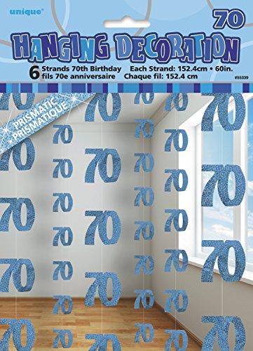 ko 1.52 m, glitzernd, zum 70. Geburtstag, zum Aufhängen, 6 Stück ()