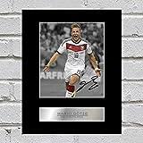 Mario Götze Signiert Foto Display Deutschland